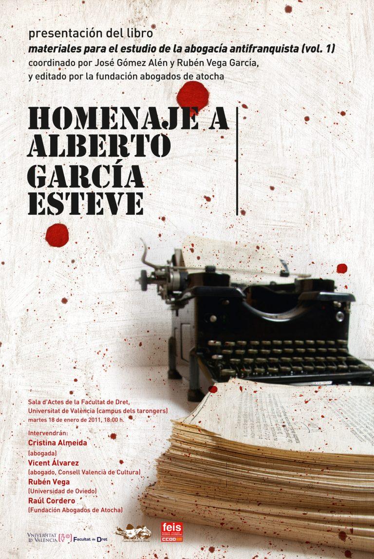 HOMENAJE A ALBERTO GARCÍA ESTEVE