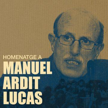 HOMENATGE A MANUEL ARDIT LUCAS